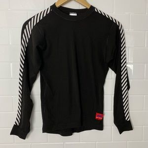 HELLY HENSEN Black and WhiteCrewneck Sweater